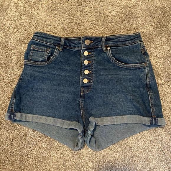 Zara High Waisted Jeans Shorts